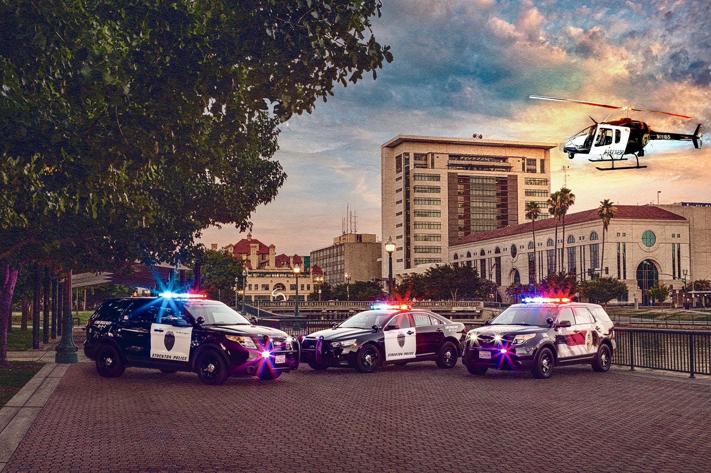 SPD Vehicles at Weber Point Events Center