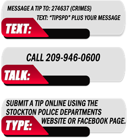 Please Text 274637 Plus your message or call 209-946-0600 if you have a tip regarding any of these cases.